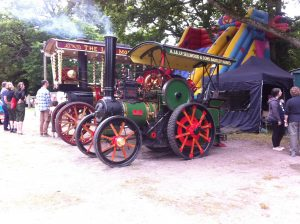 Steam engines on show,at the Copythorne Carnival