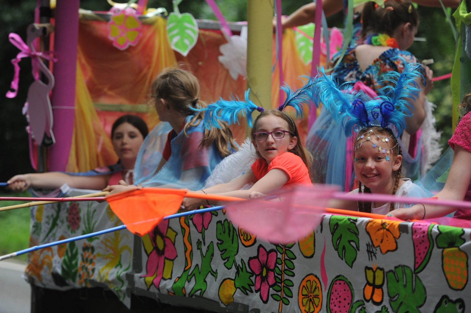 please donate, a float in the Copythorne carnival