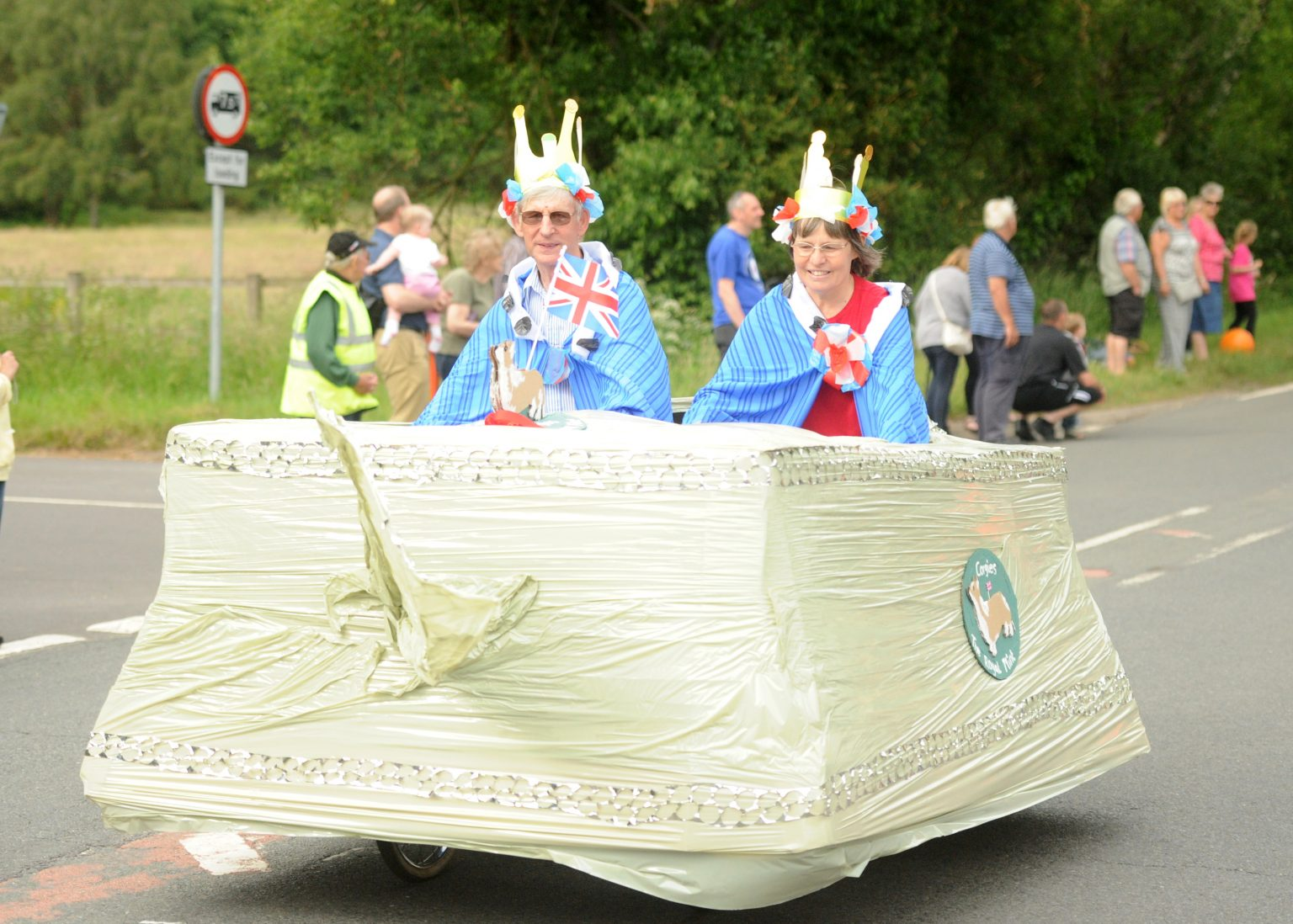 a cycle based float,at the Copythorne Carnival