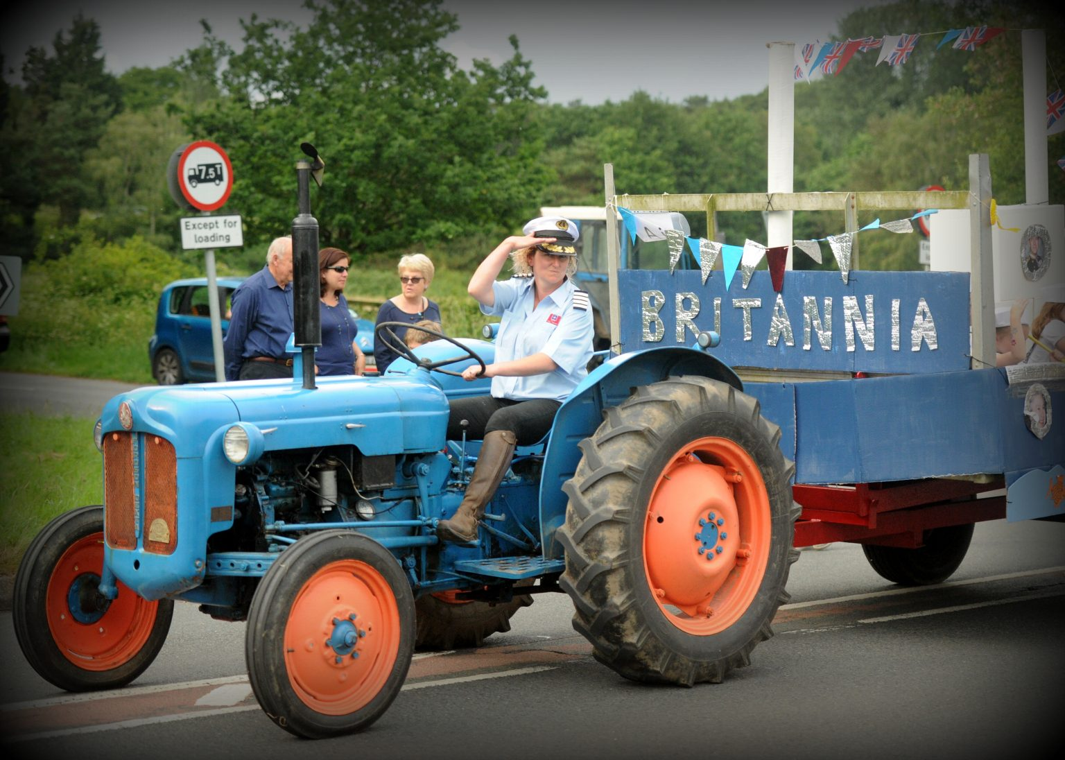 tractor pulled float,at the Copythorne Carnival