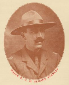 Major Sloane Stanley founder of the 2nd New Forest Scouts