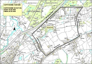 The route of the Copythorne Fun Run